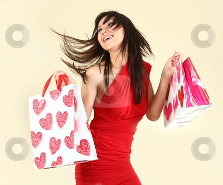 Sexy Woman Shopping With Bags stock photo, Fashionable Sexy Woman Shopping With Bags by Katrina Brown