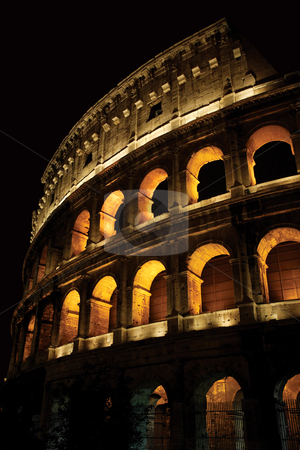 Colosseum at night stock photo, Photo of the Colosseum in Rome Italy at night. by © Ron Sumners