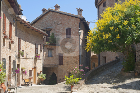 Sarnano (Macerata, Marches, Italy) - Old village stock photo, Sarnano (Macerata, Marches, Italy) - Old village by clodio