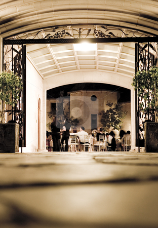 Beautiful wedding reception at a restaurant stock photo, Unforgettable and elegant wedding reception by dphotographix