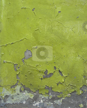 Green blathering chipping paint on grunge concrete wall stock photo, green blathering chipping paint on grunge concrete wall by johnjohnson