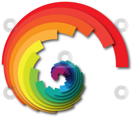 Abstract swirl design element with rainbow colors stock photo,  by HypnoCreative