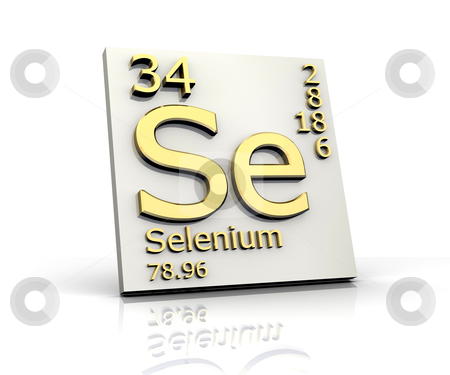 Selenium form Periodic Table of Elements  stock photo, Selenium form Periodic Table of Elements - 3d made by Fabrizio Zanier