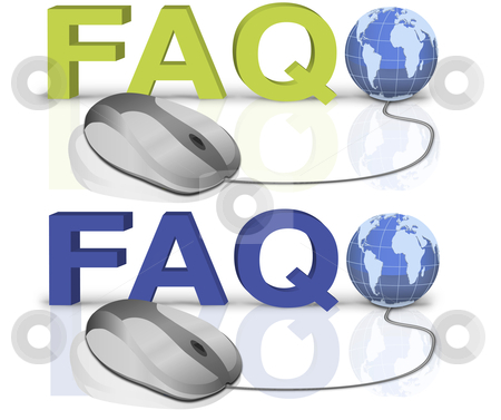 FAQ stock photo, one mouse click to faq by Dirk Ercken