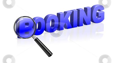 Booking online reservation e-ticket stock photo, booking online reservation e-ticket 3 text blue by Dirk Ercken