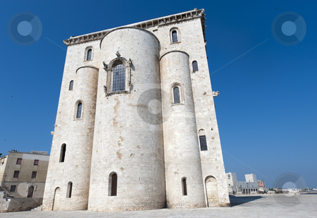 Trani (Puglia, Italy) - Medieval cathedral, apse stock photo, Trani (Puglia, Italy) - Medieval cathedral, apse by clodio