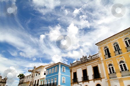 Buildings in Salvador stock photo, Historic Buildings in Salvador, Bahia, Brazil, South america. by Michael Osterrieder