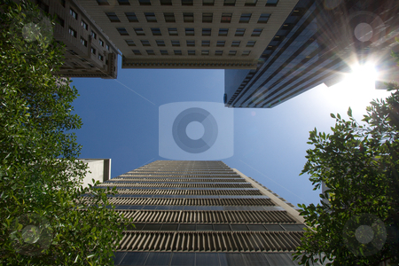 Towers in the green stock photo,  by Paul Murray Photography