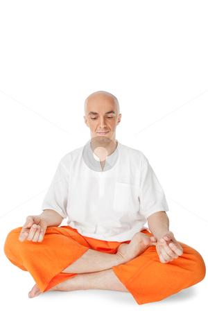 man lotus yoga meditation stock photo