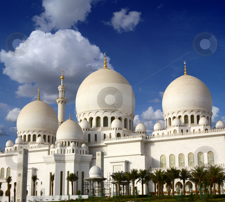 Sheikh Zayed mosque stock photo, Sheikh Zayed mosque in Abu-Dhabi, UAE by HypnoCreative