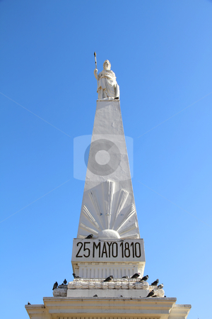 "Piramide de Mayo stock photo, The landmark called ""Piramide de Mayo"" on the Plaza de Mayo in Buenos Aires, Argentina. by Michael Osterrieder"