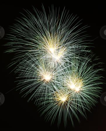 Fireworks stock photo, Firework display against black sky by Yann Poirier