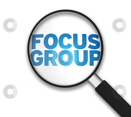 Magnifying Glass - Focus Group stock photo, Magnifying Glass with the word Focus Group on white background. by kbuntu