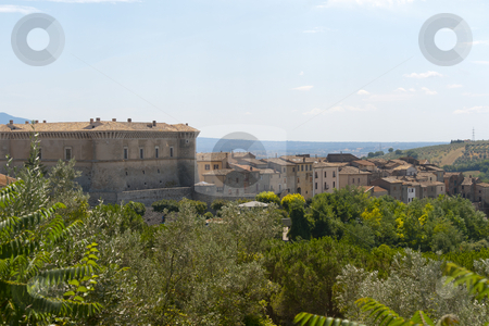 Panorama of Alviano (Terni, Umbria, Italy), with its castle stock photo, Panorama of Alviano (Terni, Umbria, Italy), landscape at summer by clodio