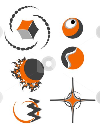 Abstract logo symbols stock photo, abstract logo symbols by William Park