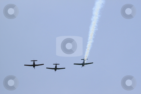 Flyover stock photo, World war 2 airplanes doing a flyover by Henrik Lehnerer