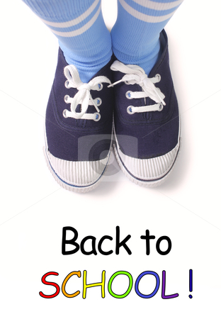 Back to school stock photo, Young kid ready to get back to school by smarnad