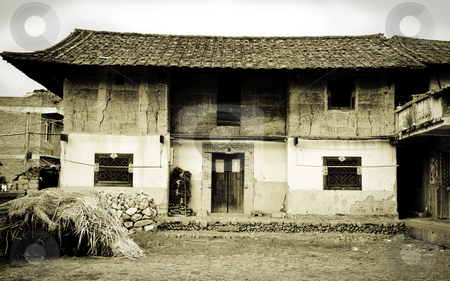 Tradtional Chinese Farmhouse stock photo, An old farmhouse in a small village in China by elemery