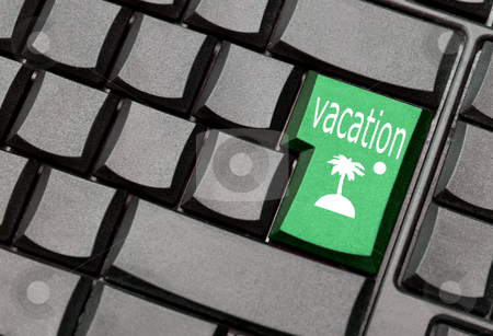 Vacation computer key stock photo, vacation computer key by sielemann