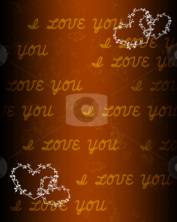 Hearts against color background stock photo, wallpaper with love hearts against colour background by Sergey Nivens