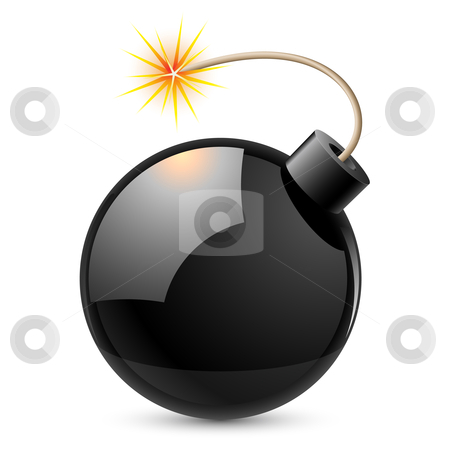 Cartoon bomb stock photo, Cartoon bomb. Illustration on white background by dvarg