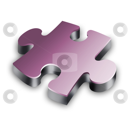 three-dimensional puzzle stock photo, Part of three-dimensional puzzle on a white background by Sergey Nivens