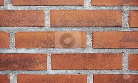 Brick Wall stock photo, red Brick Wall by sielemann