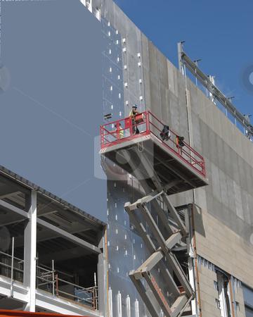 Scissor Lift stock photo, A Scissor Lift Platform on a construction site by d40xboy