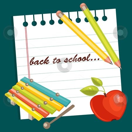 Back to school background stock photo, Back to school background, vector illustration by kariiika