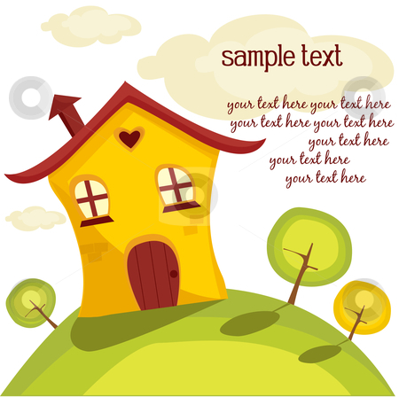 Cute house stock photo, Cute house, vector illustration by kariiika
