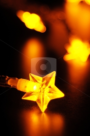 Christmas lights stock photo, xmas or christmas holiday concept with lights and bokeh by Gunnar Pippel