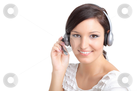 Smiling support technician stock photo,  by azmo31