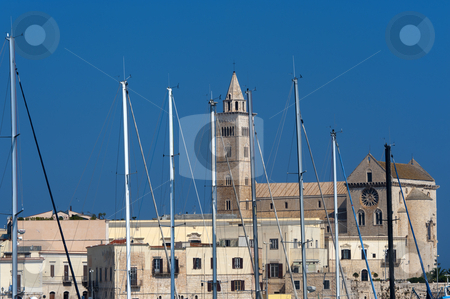 Trani (Puglia, Italy) - Harbor, cathedral and houses stock photo, Trani (Puglia, Italy) - Harbor, cathedral and houses by clodio