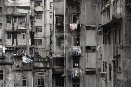 Ghetto stock photo, Run-down residential building in the city.  by © Ron Sumners