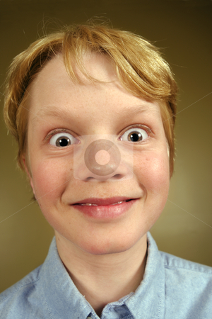 Excited kid stock photo, A young boy excited and surprised. by © Ron Sumners
