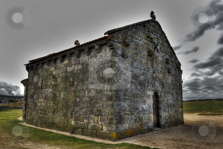 HDR, The little hermitage of A Lanzada, Galicia, Spain  stock photo, HDR style by pifate