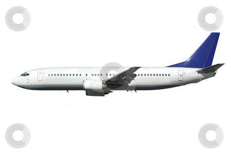 Plane isolated on a white background stock photo, Plane on a clean white background by Lars Christensen