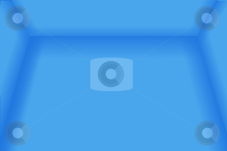 Blue Empty Room stock photo, A blue empty room 3D usefull as a background. by Henrik Lehnerer