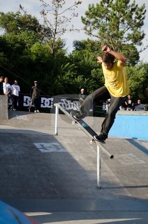 Nuno Cardoso stock photo, ILHAVO, PORTUGAL - SEPTEMBER 03: Nuno Cardoso during the 2nd Stage of the DC Skate Challenge on September 03, 2011 in Ilhavo, Portugal. by Homydesign