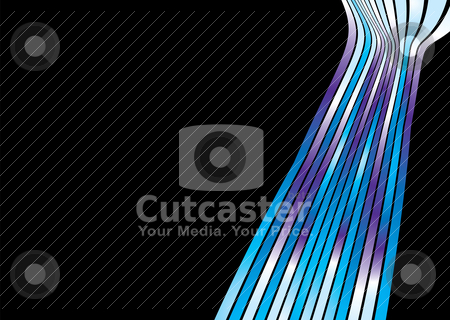 Subtle strand stock vector clipart, Subtle background with wavy lines and copy space by Michael Travers