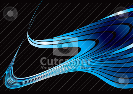Puddle strand stock vector clipart, Abstract background in blue and white with copyspace by Michael Travers