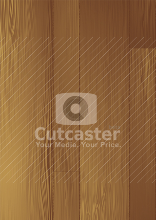 Wood grain stock vector clipart, Illustrated wood grain background with planks and joints by Michael Travers