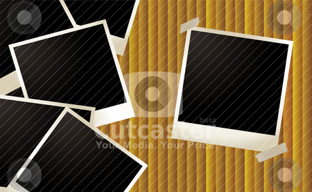 Polaroid ripple stock vector clipart, Polaroid background with room to add your own images by Michael Travers