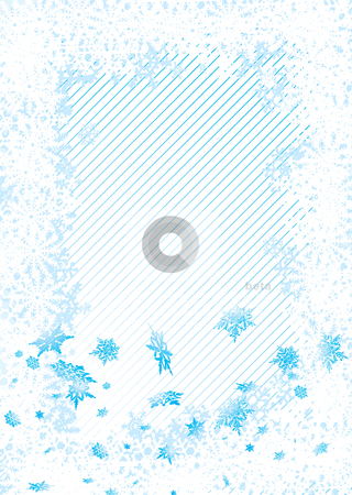 Snowflake fall copyspace stock vector clipart, Subtle christmas image with snowflakes and room to add text by Michael Travers