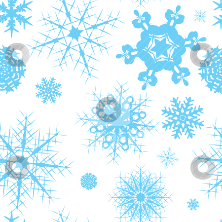 Snowflake seamless tile stock vector clipart, Seamless christmas tile design that repeats with no join by Michael Travers