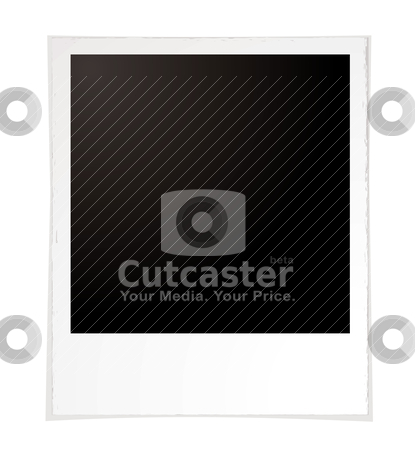 Plain polaroid stock vector clipart, Illustration of a plain polaroid with room to add your own image by Michael Travers