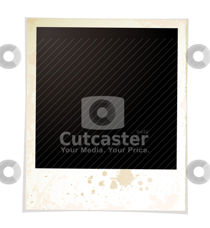 Grunge plain polaroid stock vector clipart, Grunge effect polaroid with room for your own image by Michael Travers
