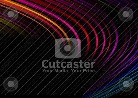 Rainbow corner black stock vector clipart, Bright colorful corner design with room to add your own text by Michael Travers