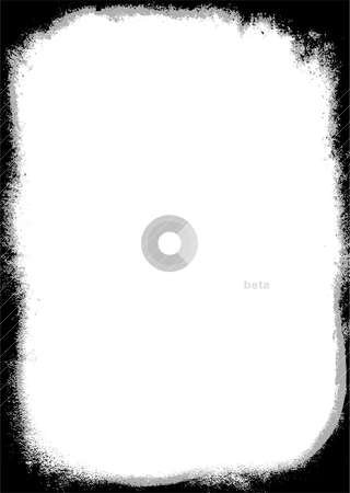 Grunge border two tone stock vector clipart, Black and gray grunge effect border with copy space by Michael Travers