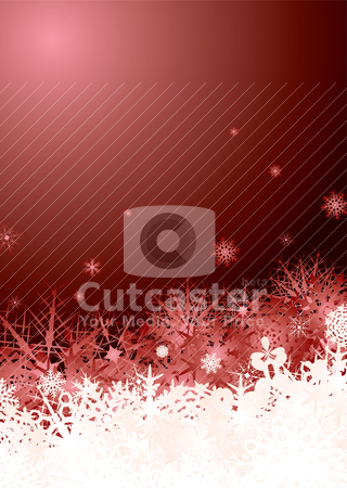 Snowflake pile red stock vector clipart, Subtle snow flake design ready for your christmas text by Michael Travers